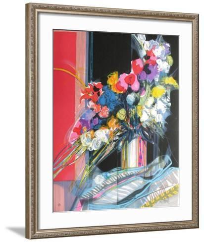 Bouquet de fleurs I-Jean-Baptiste Valadie-Framed Art Print