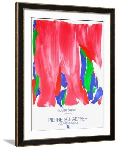 Hommage ? Pierre Schaeffer-Olivier Debre-Framed Art Print