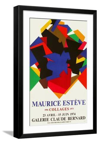 Expo 74 Galerie Claude Bernard-Maurice Esteve-Framed Art Print