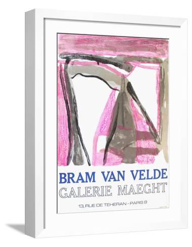 Expo 75 - Galerie Maeght-Bram van Velde-Framed Art Print