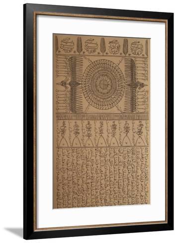 Hommage ? Farid Ed-dine Attar VIII-Rachid Koraichi-Framed Art Print