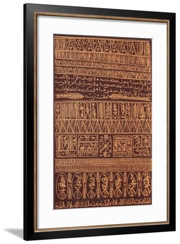 Hommage ? Sidi Abdelkader Jilali II-Rachid Koraichi-Framed Art Print