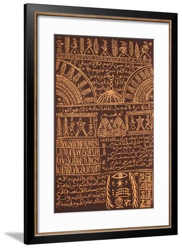 Hommage ? Sidi Abdelkader Jilali IV-Rachid Koraichi-Framed Art Print