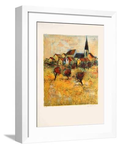 Le village II-Michel Jouenne-Framed Art Print