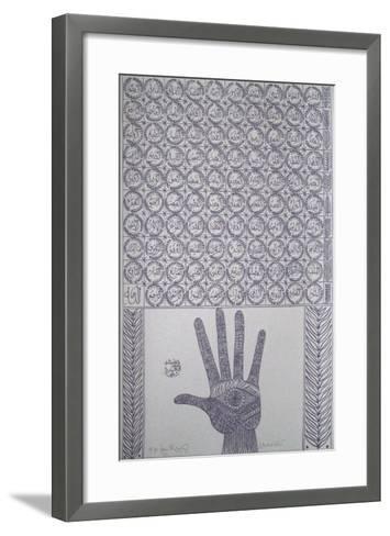 Hommage ? Ibn Ata Allah Iskandari I-Rachid Koraichi-Framed Art Print