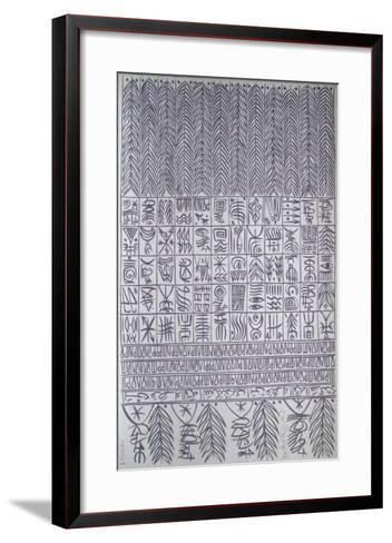 Hommage ? Ibn Ata Allah Iskandari II-Rachid Koraichi-Framed Art Print