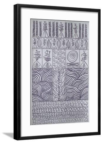 Hommage à Ibn Ata Allah Iskandari VIII-Rachid Koraichi-Framed Art Print