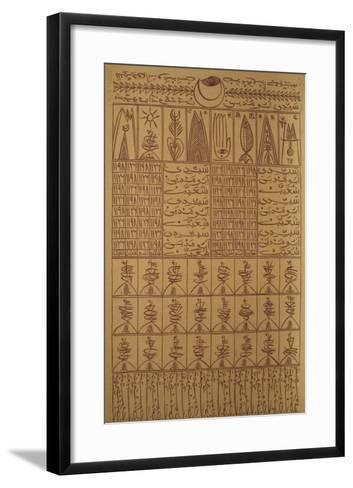 Hommage à Sídi Boumediene Chouaieb VII-Rachid Koraichi-Framed Art Print