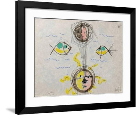 L'?ge du verseau : visages et poissons-Jean Cocteau-Framed Art Print
