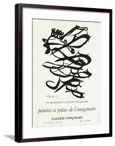 Expo 64 - Galerie Cinq-Mars-Charles Lapicque-Framed Art Print