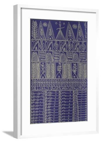 Hommage à Rûmi VII-Rachid Koraichi-Framed Art Print