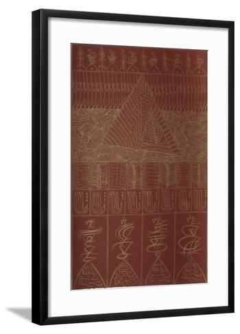 Hommage ? Ibn El Arabi II-Rachid Koraichi-Framed Art Print