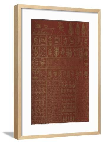 Hommage ? Ibn El Arabi III-Rachid Koraichi-Framed Art Print