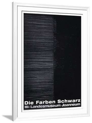 Expo 99 - Die Farben Schwarz-Pierre Soulages-Framed Art Print