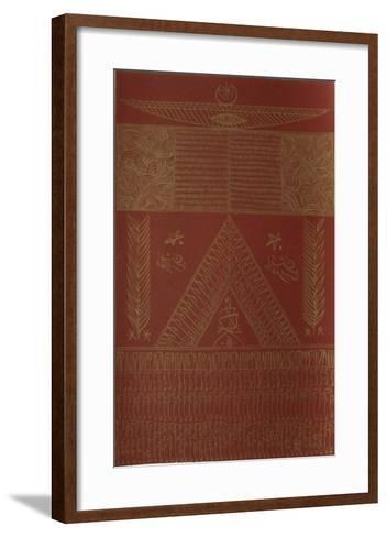 Hommage ? Ibn El Arabi VII-Rachid Koraichi-Framed Art Print
