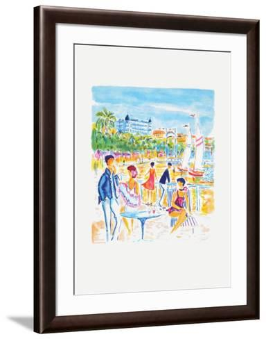 La plage de Cannes-Jean-claude Picot-Framed Art Print