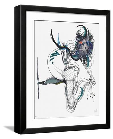 Rue Saint Denis I-Raymond Moretti-Framed Art Print