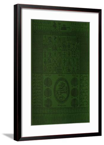Hommage ? Cheikh Al Alawi Al Moustaghanami III-Rachid Koraichi-Framed Art Print