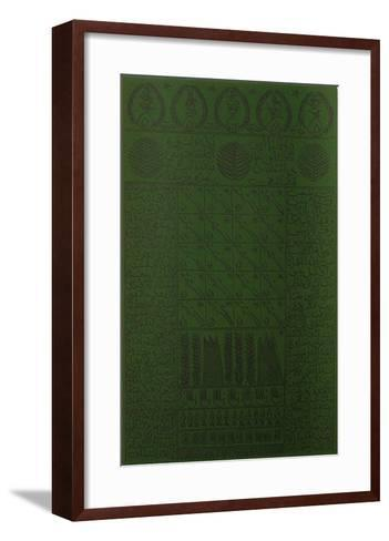 Hommage ? Cheikh Al Alawi Al Moustaghanami VIII-Rachid Koraichi-Framed Art Print