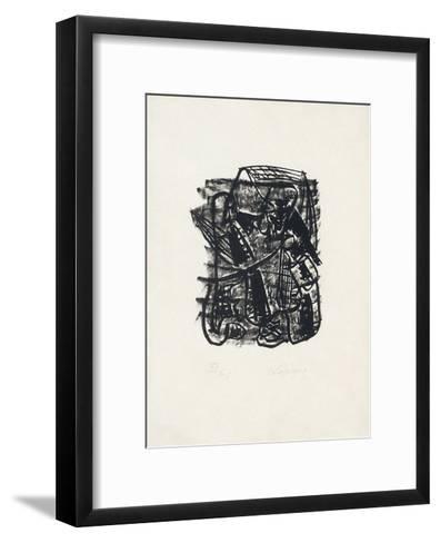Portraits V : Conversation dans la Beauce-Charles Lapicque-Framed Art Print