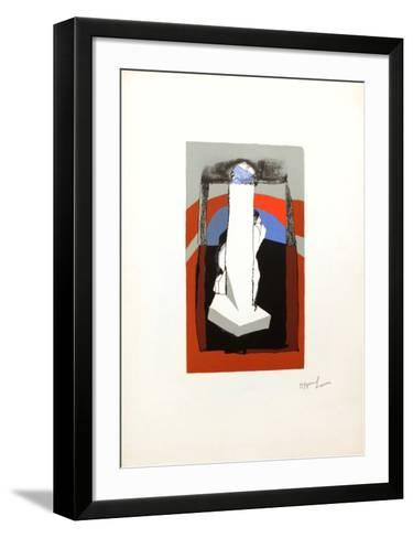 Signe phallique-Dennis Oppenheim-Framed Art Print