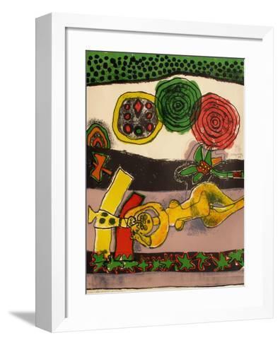 Les trois soleils-Guillaume Corneille-Framed Art Print