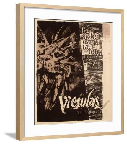 Expo 59 - Galerie Le Soleil dans la T?te-Romas Viesulas-Framed Art Print