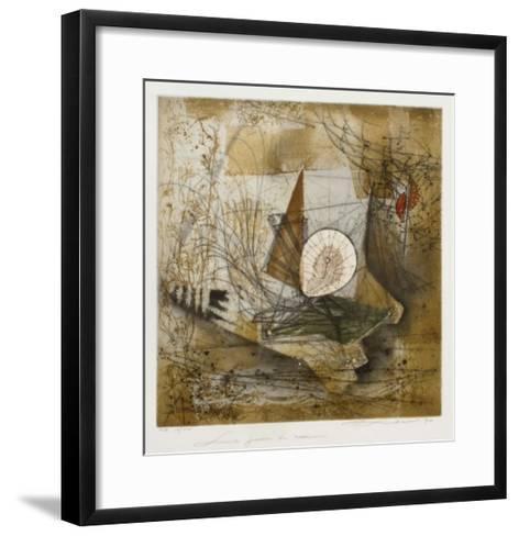 Le jardin du musicien--Framed Art Print