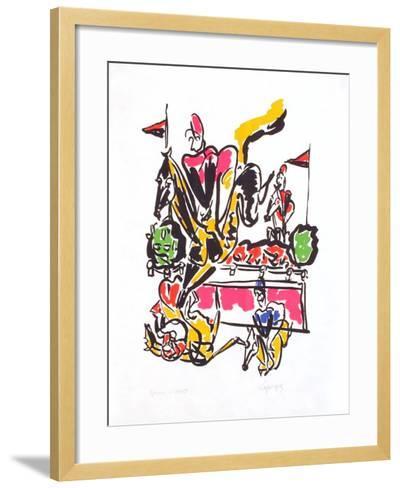 EQ - La rivière des tribunes-Charles Lapicque-Framed Art Print