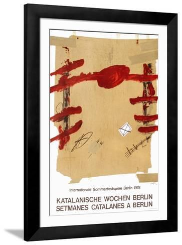 Expo 78 - Setmanes Catalanes a Berlin-Antoni Tapies-Framed Art Print
