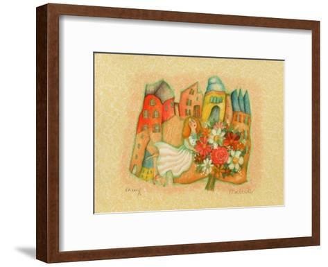Les mari?s III-Francoise Deberdt-Framed Art Print