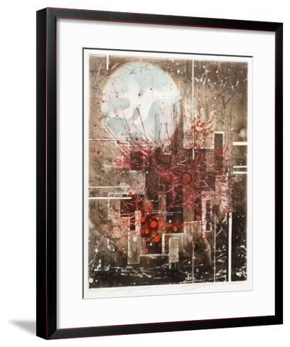 La cage ouverte--Framed Art Print
