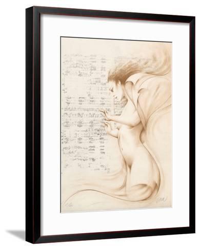 Muse II (ocre)-Gerard Daran-Framed Art Print