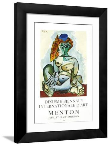 Expo 74 - Biennale de Menton-Pablo Picasso-Framed Art Print