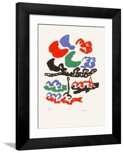 M - Nuages sur la c?te-Charles Lapicque-Framed Art Print