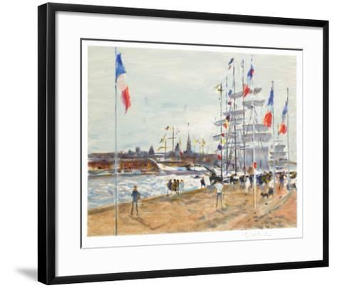 Les quais ? Rouen-Gaston Sebire-Framed Art Print