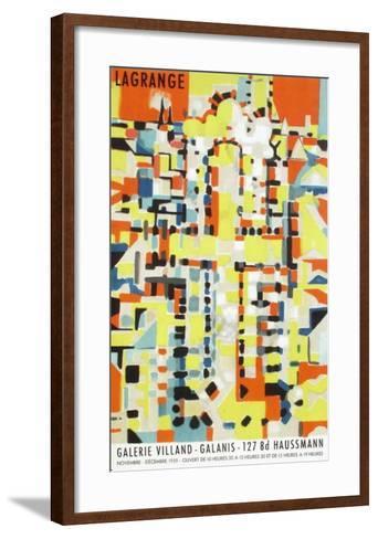 Expo 59 - Galerie Villand Galanis-Jacques Lagrange-Framed Art Print