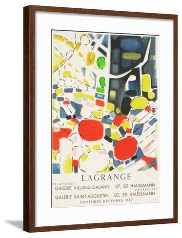 Expo 57 - Galerie Villand Galanis-Jacques Lagrange-Framed Art Print