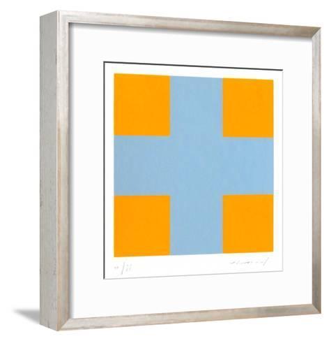 Une croix pour quatre carr?s-Aur?lie Nemours-Framed Art Print