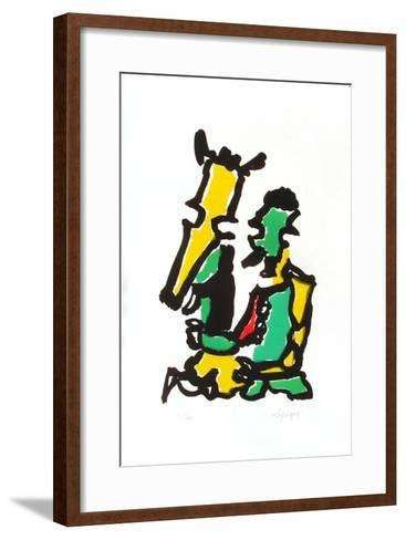 Portraits I : les deux amis-Charles Lapicque-Framed Art Print