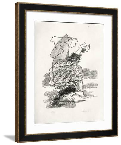 Portraits VIII : Jezabel-Charles Lapicque-Framed Art Print