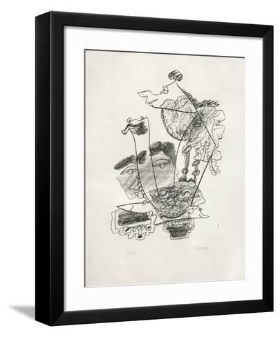 Portraits VIII : Aristophane-Charles Lapicque-Framed Art Print