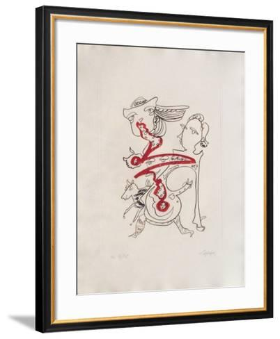 Portraits III : L'appel-Charles Lapicque-Framed Art Print