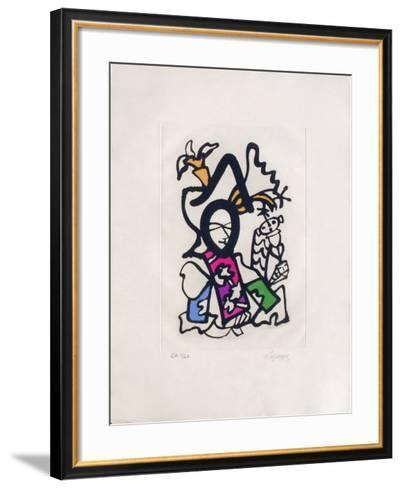 Portraits IX : l'heure espagnole-Charles Lapicque-Framed Art Print