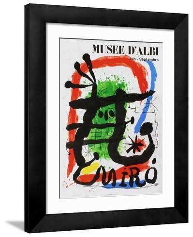 Expo 81 - Musée d'Albi-Joan Mir?-Framed Art Print