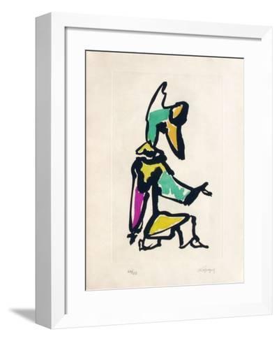 Portraits I : Le clown-Charles Lapicque-Framed Art Print