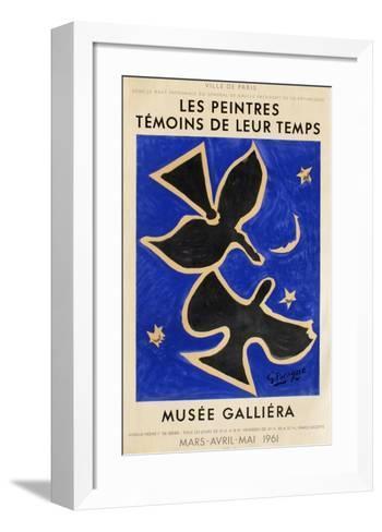 Expo 61 - Mus?e Galli?ra-Georges Braque-Framed Art Print