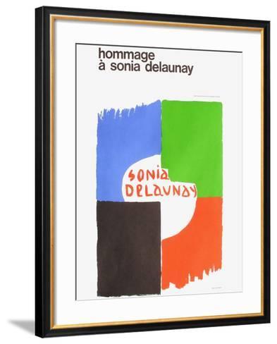 Expo 75 - Centre National Georges Pompidou-Sonia Delaunay-Terk-Framed Art Print