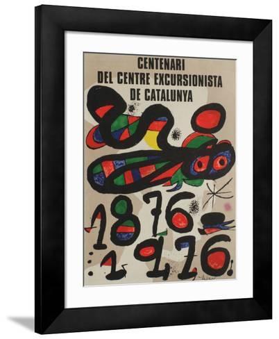 Expo 76 - Centenari del CC Barcelona-Joan Mir?-Framed Art Print