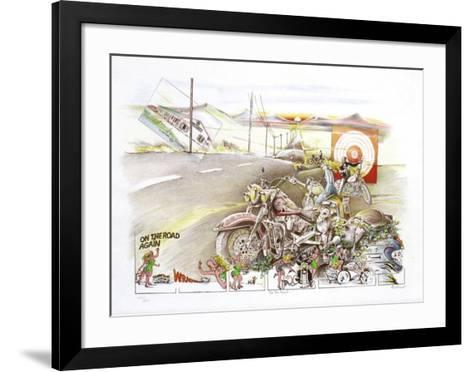 On the road-Daniel Authouart-Framed Art Print